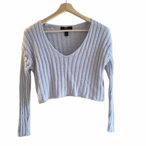 Forever 21 blue knit crop, Small